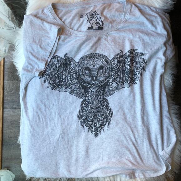 Tops - Owl festival boho aztec shirt 🍄🌿🍃